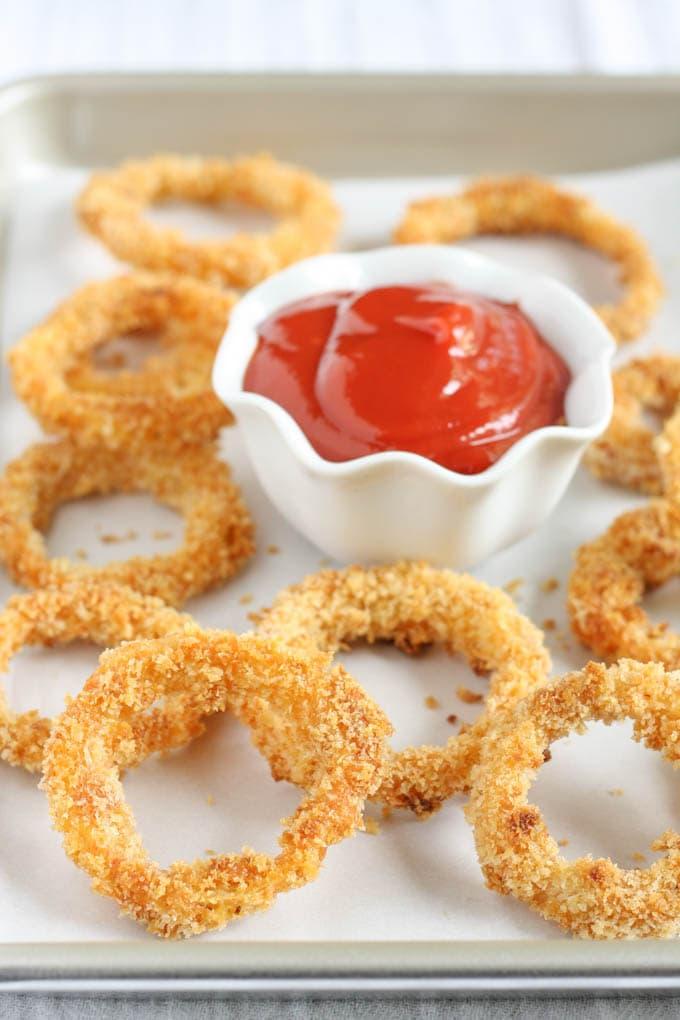 Crispy Baked Onion Rings Recipe — Dishmaps