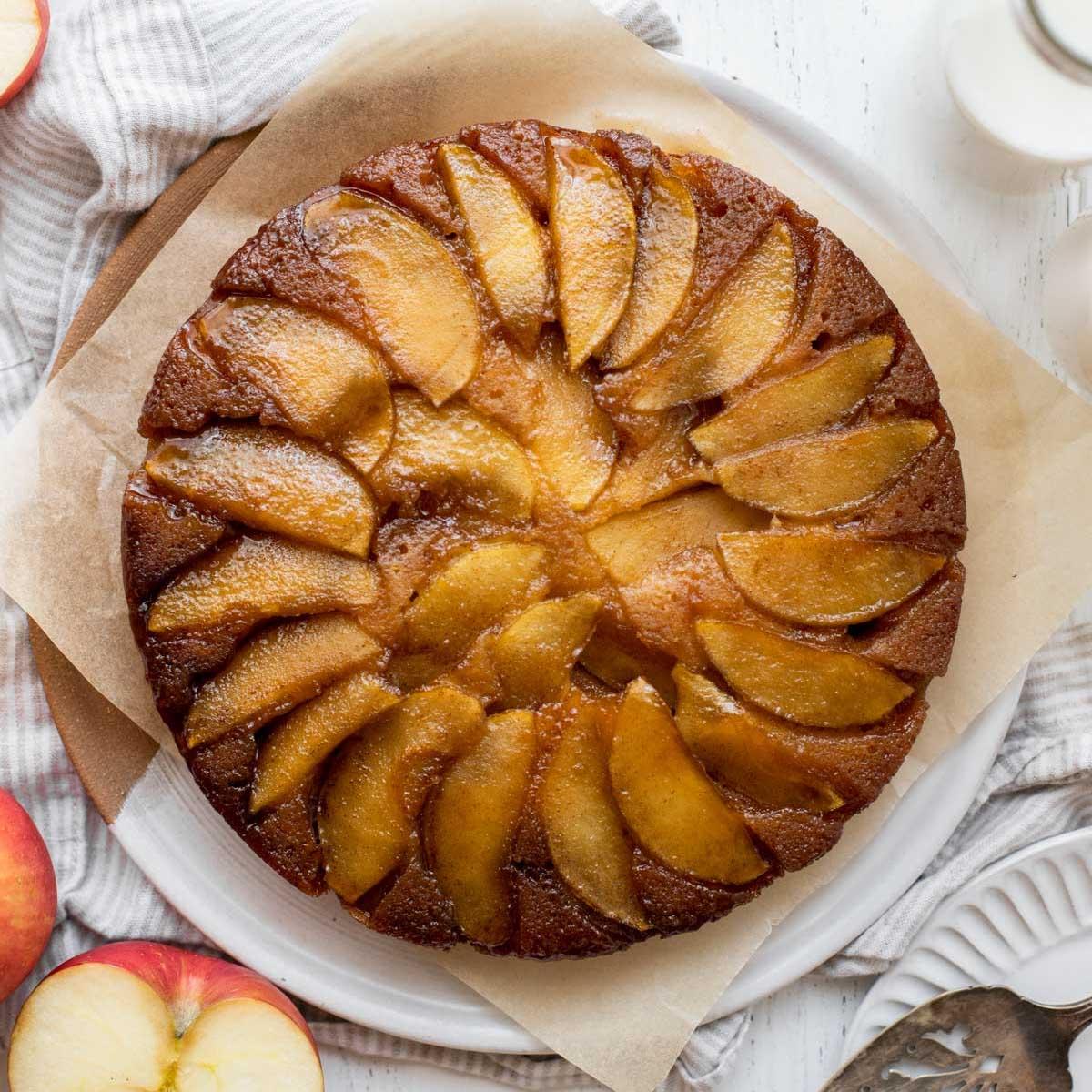 Apple Upside Down Cake Live Well Bake Often