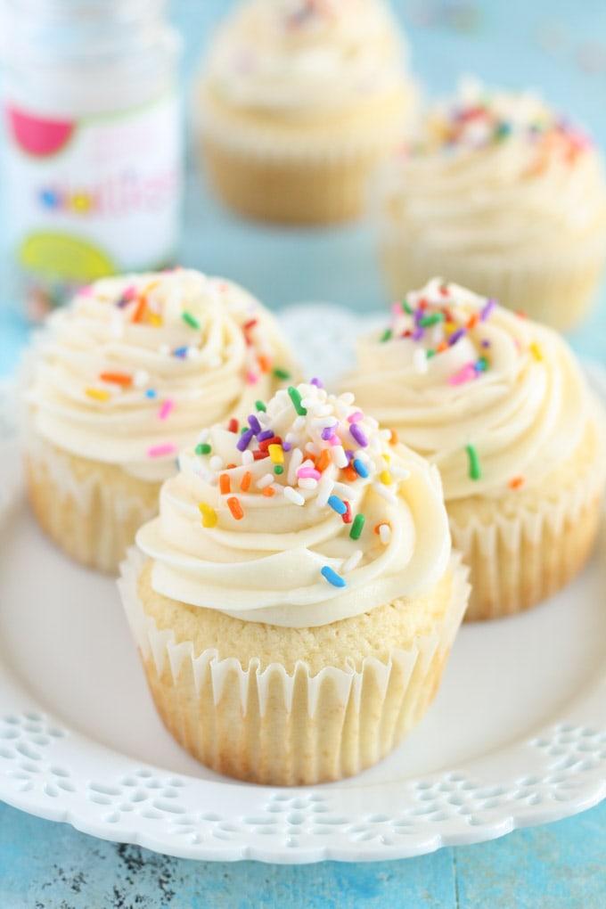 Vanilla Cupcake Recipe (with oil and buttermilk) | Sugar ...  |Vanilla Cupcakes Recipe