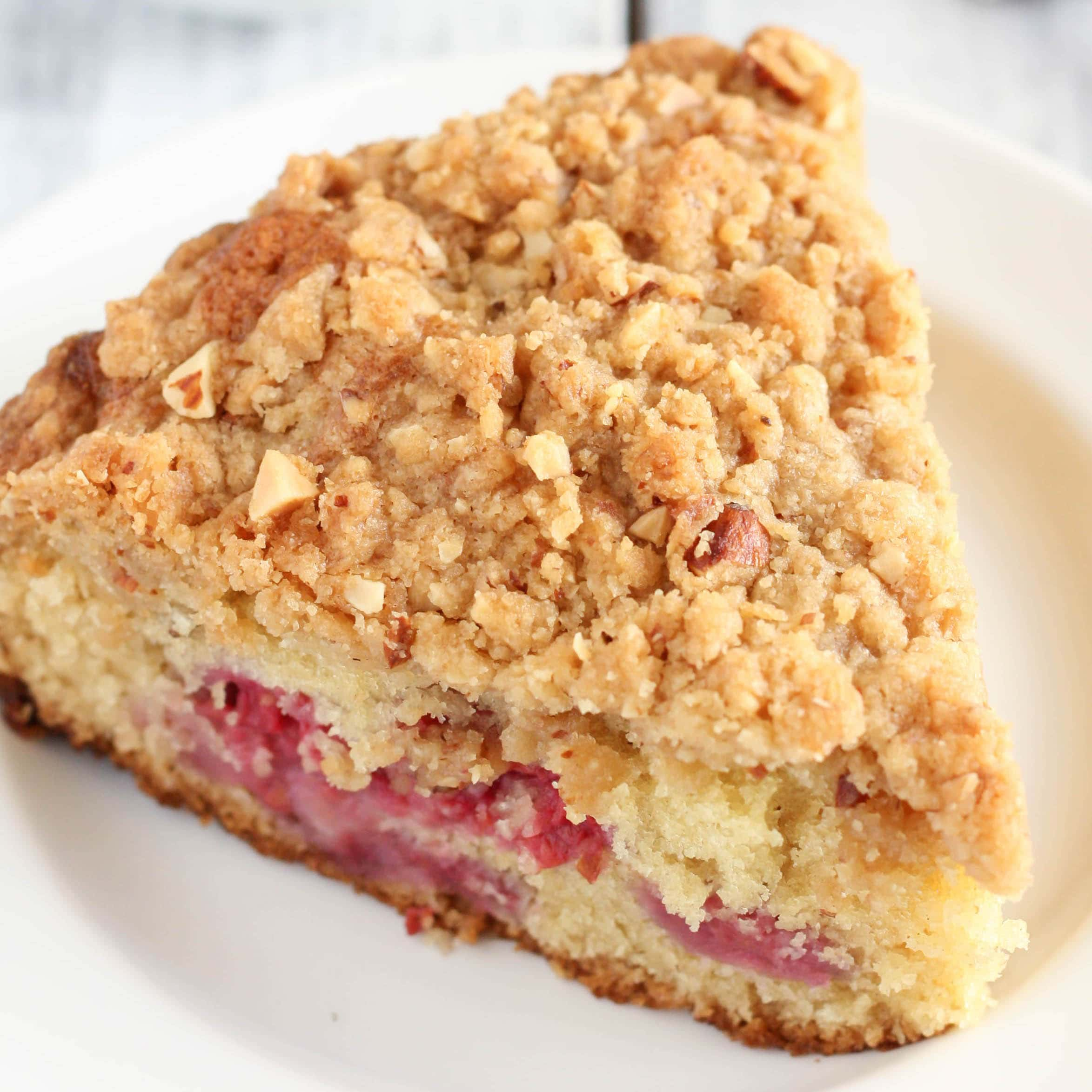Raspberry Almond Crumb Cake - Live Well Bake Often