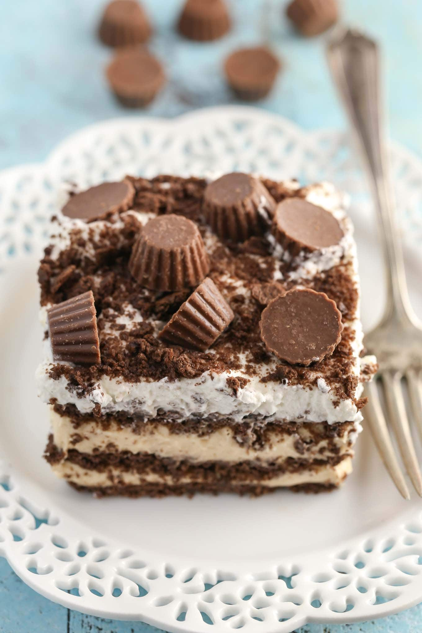 Chocolate Peanut Butter Icebox Cake - Live Well Bake Often