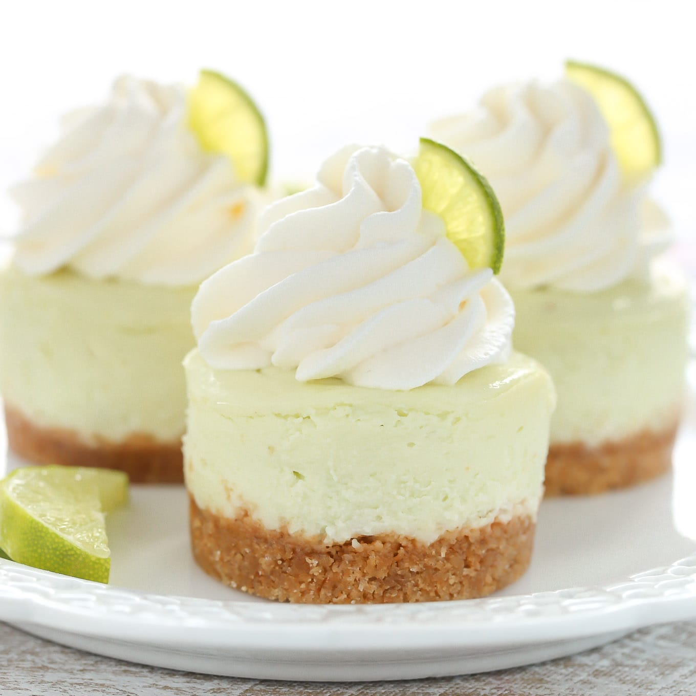 Mini Key Lime Cheesecakes - Live Well Bake Often