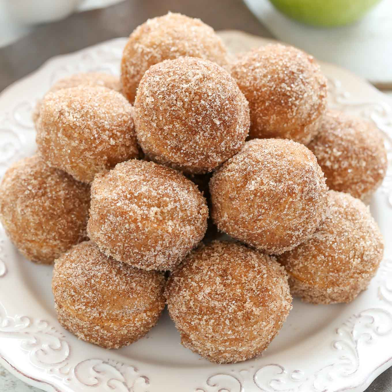 deep fried apple cider donut holes
