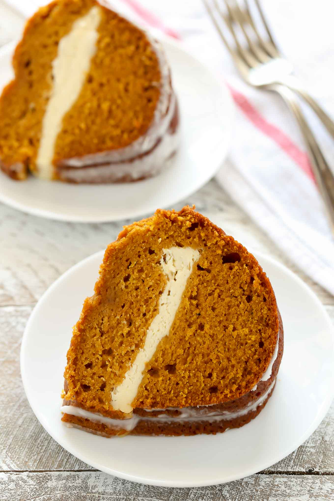 Pumpkin Bundt Cake With Cream Cheese Filling Recipe