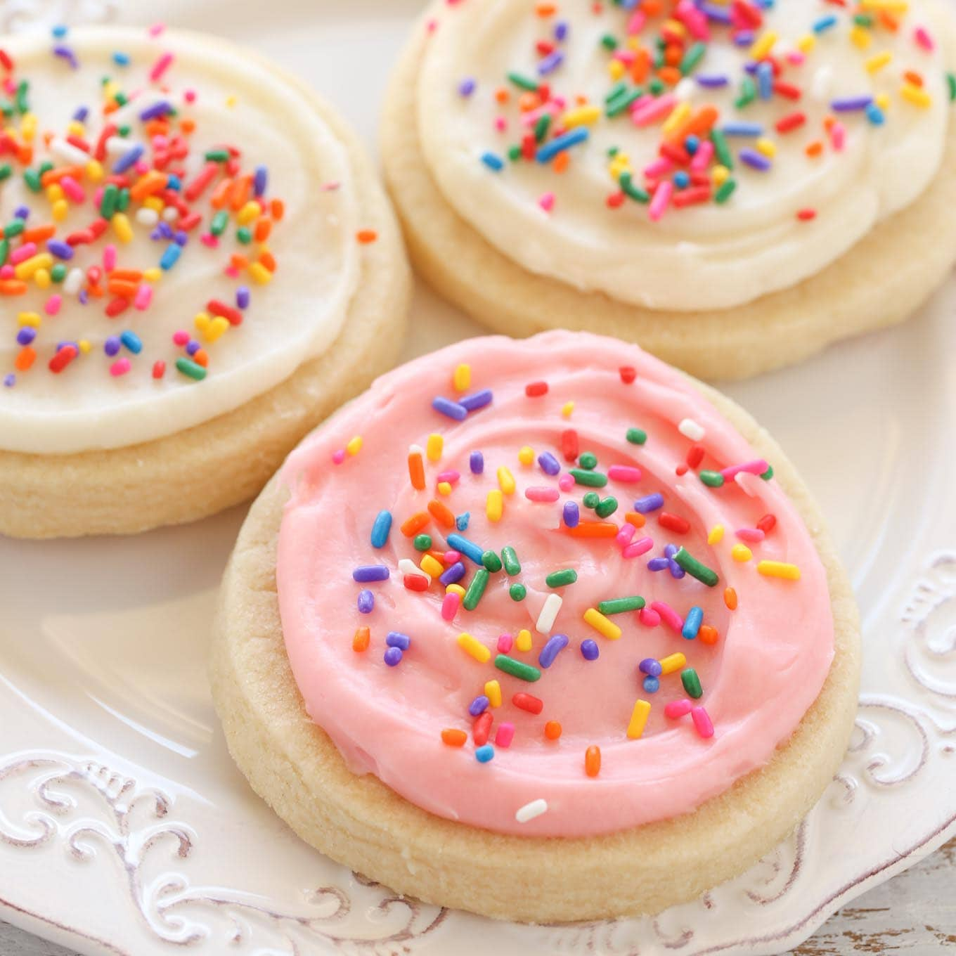 Soft Cut Out Sugar Cookies With Cream Cheese Frosting