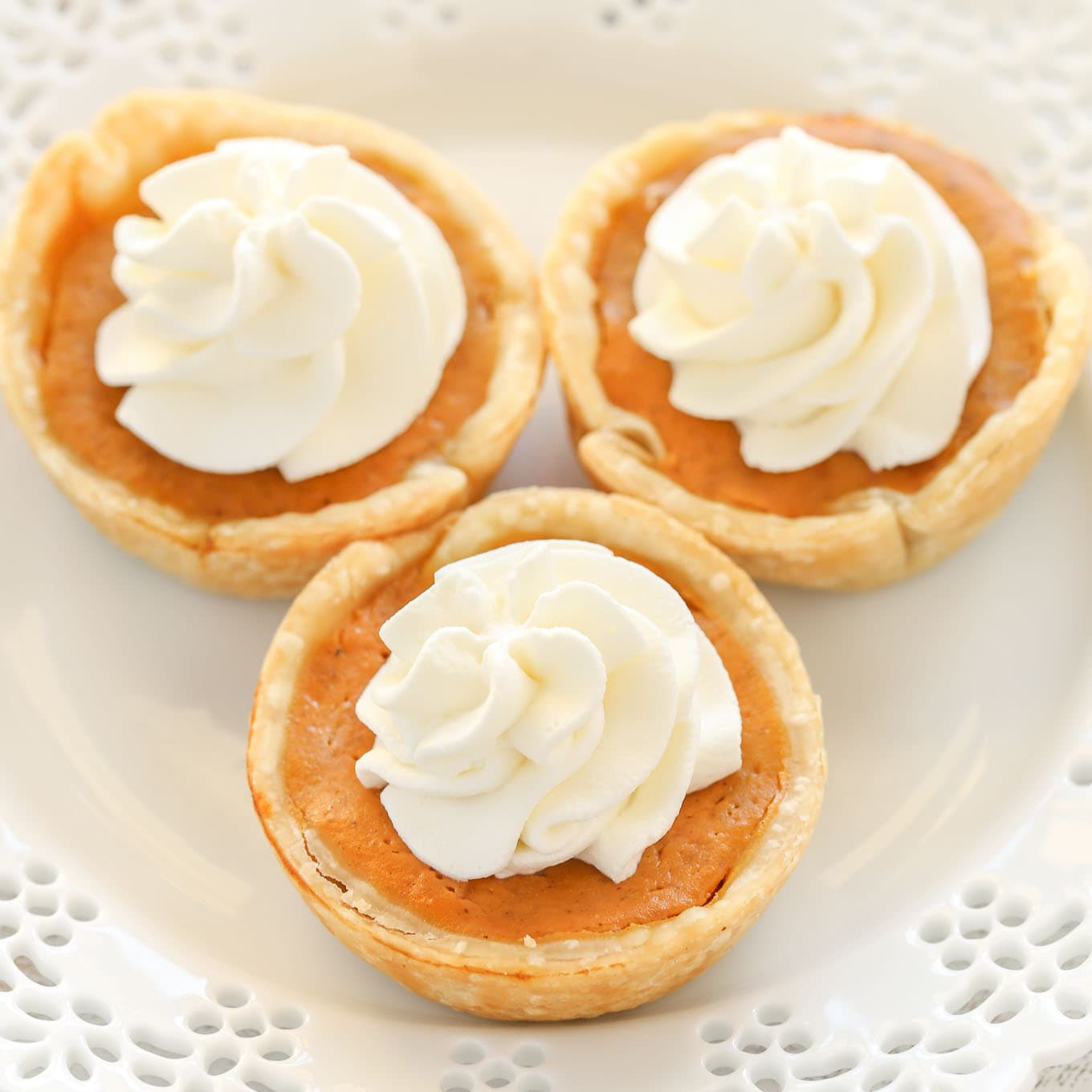 Mini Pumpkin Pies - Live Well Bake Often