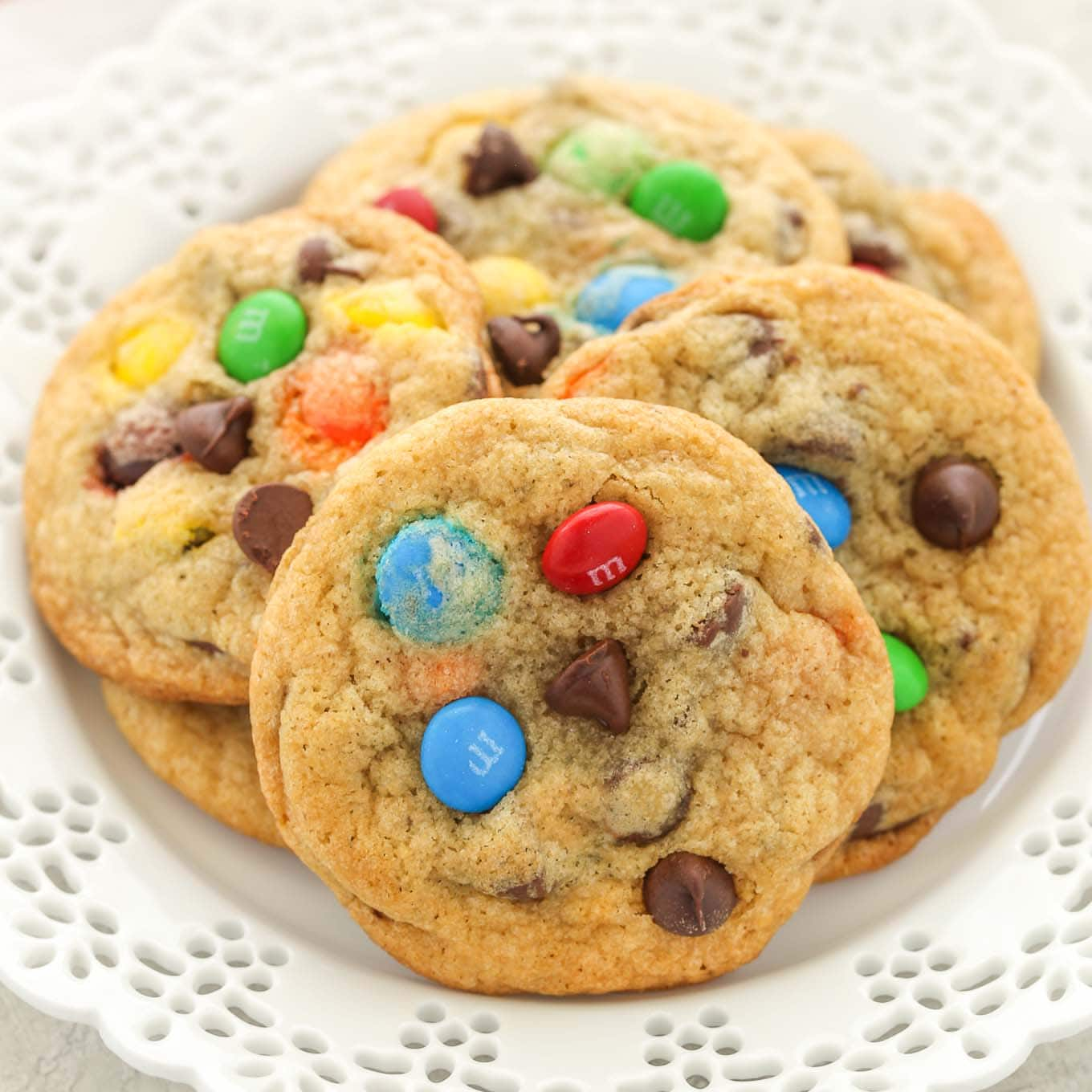 Chocolate Chip M M S Cookies Soft Chewy Live Well Bake Often