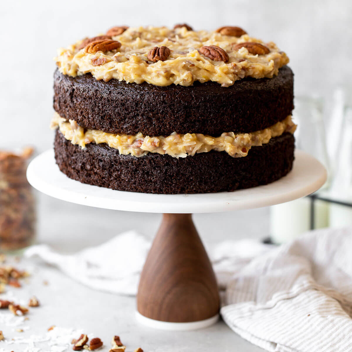Outstanding German Chocolate Cake Live Well Bake Often Birthday Cards Printable Riciscafe Filternl