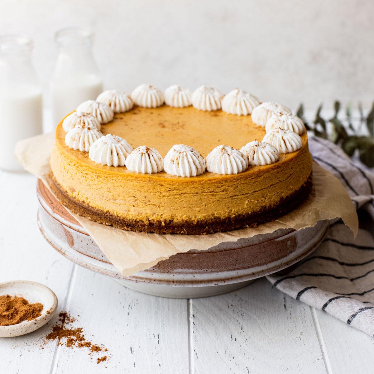 Pumpkin Cheesecake Live Well Bake Often